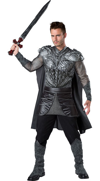mens dark medieval knight costume mens knight costume