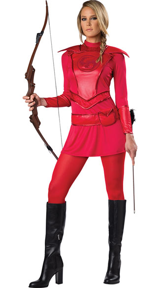 red warrior huntress costume red warrior costume red
