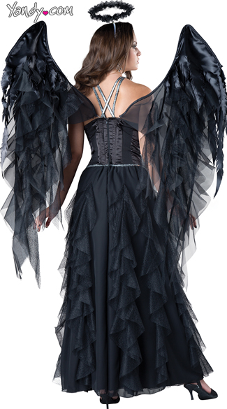 Sexy Dark Angel Costume - Black