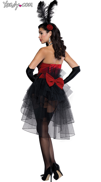 Sexy Burlesque Bombshell Costume - As Shown