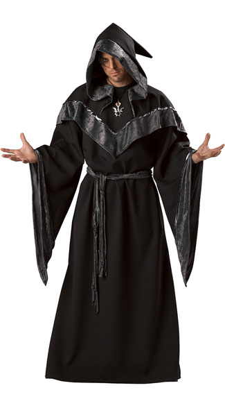Men's Dark Sorcerer Costume - As Shown