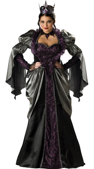 Plus Size Deluxe Wicked Queen Costume, Plus Size Adult Evil Queen Costume, Plus Size Dark Queen Halloween Costume