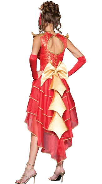 Deluxe Dragon Lady Costume - Red/Gold