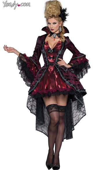 Deluxe Victorian Vamp Costume - As Shown