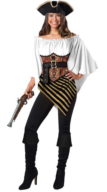 Pirate Lady Costume Kit - As Shown