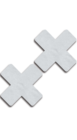 Solid White Cross Pasties - White