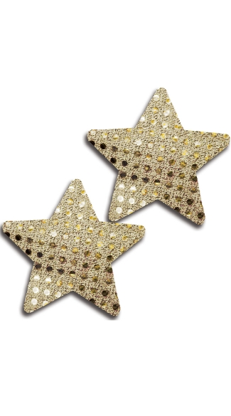 Gold Sequin Star Pasties - Gold