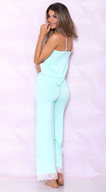 Lucid Dreams Pajama Pants - Aqua
