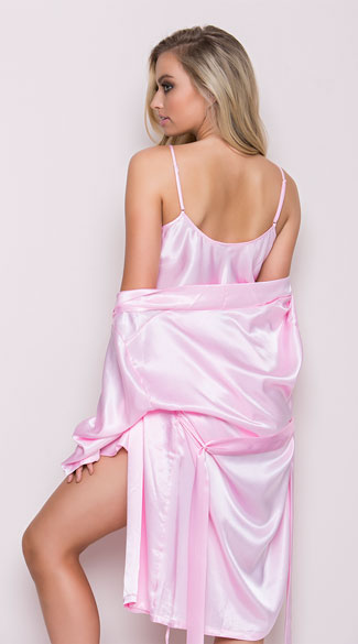 Show Off Satin Chemise - Pink