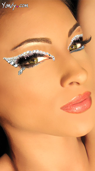 Illusion Eye Kit, White Jewel Eye Stickers, Glitter Eye Art