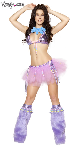 Pale Purple Kandy Kid Costume - as shown
