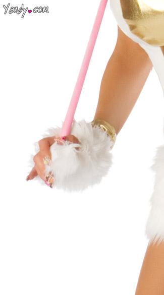 Deluxe Unicorn Gloves - White/Gold