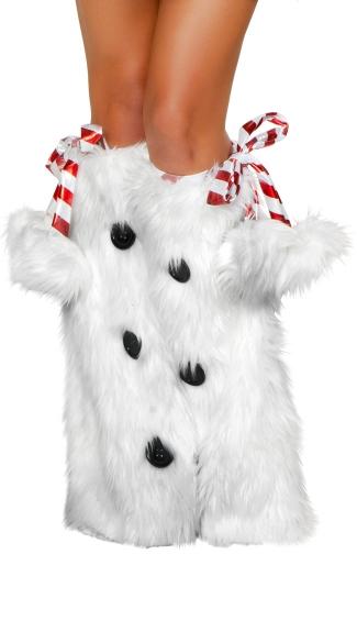 Snowman Leg Warmers - White