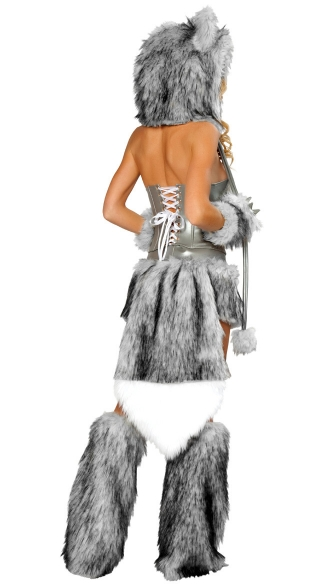 Sexy Wolf Corset, Skirt and Tail -