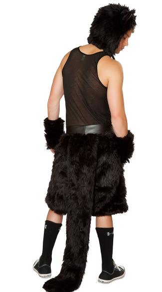 Men's Black Cat Costume - as shown