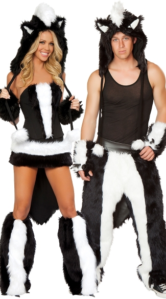 Funky Skunk Couples Costume  sc 1 st  Yandy & Funky Skunk Couples Costume Menu0027s Funky Skunk Party Pants Party ...