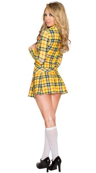 Sexy School Daze Costume - As Shown