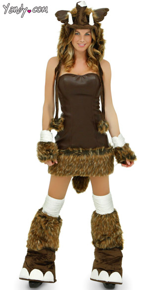 Deluxe Woolly Mammoth Costume, Sexy Woolly Mammoth Costume -8299