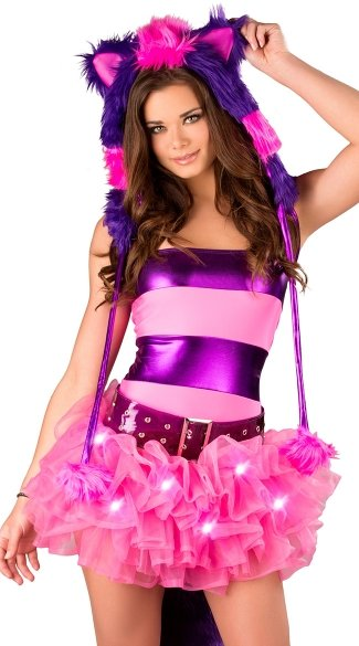 Cheshire Cat Striped Tube Top, Cheshire Cat Top, Cheshire Cat Costume Top