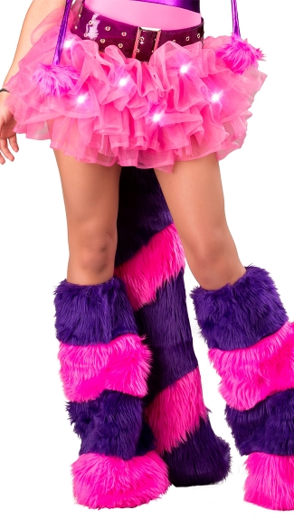 Cheshire Cat Belt With Furry Striped Tail, Cheshire Cat Costume Tail