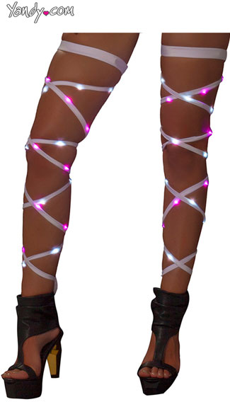 Light-Up Leg Wraps - White/Pink