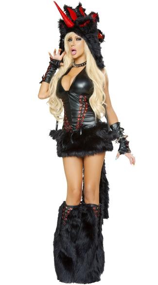 Deluxe Black Magic Unicorn Costume -