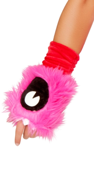 Pink Monster Gloves - as shown