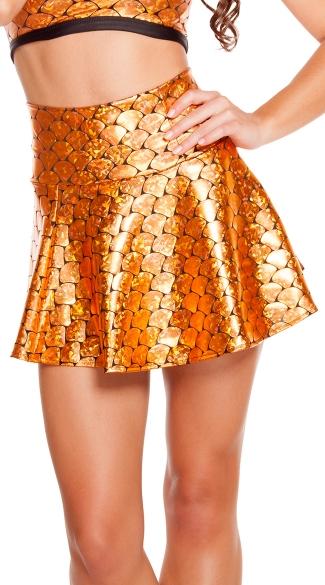 Goldfish Print High Waisted Skirt - Goldfish