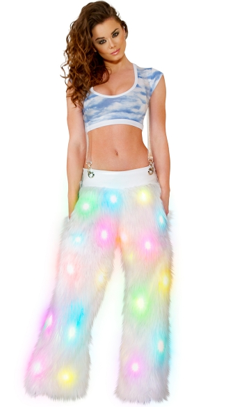 Bright and Cloudy Top and Pants Set - as shown