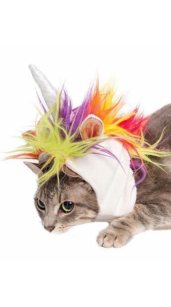 Small Pet Unicorn Costume - As Shown