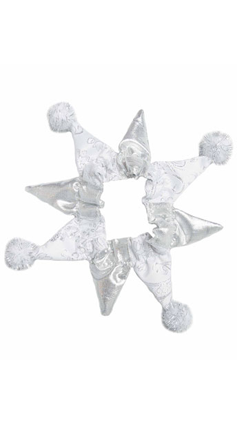 Silver Snowflake Dog Costume - As Shown