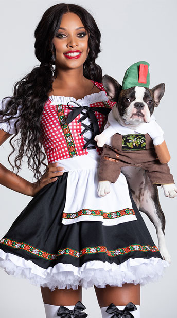 Oktoberfest Dog Costume - As Shown