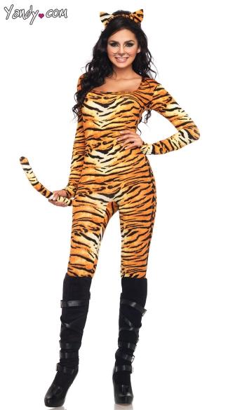 Wild Tigress Costume - Orange/Black