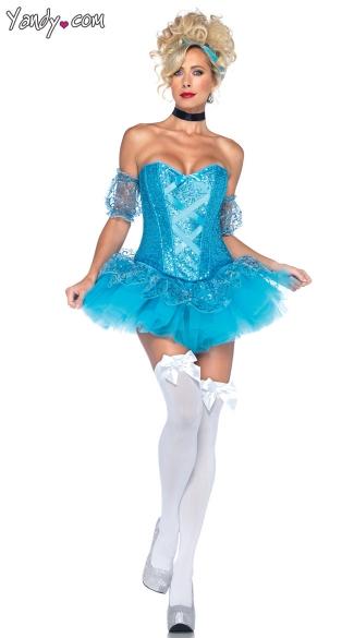 Sequin Cinderella Costume   Aqua ...