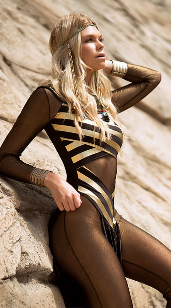 Goddess Isis Costume - Black/Gold