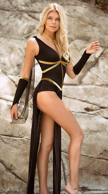 Divine Dark Goddess Costume Warrior Goddess Costume