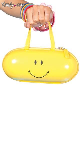 Happy Pill Purse - Yellow
