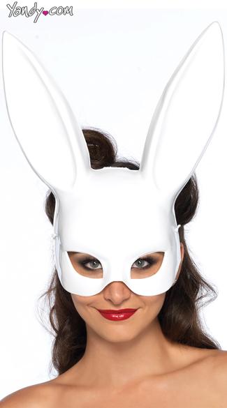 Bondage Bunny Mask - White