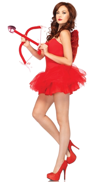 Call Me Cupid Costume Kit, Red Cupid Costume, Womens Cupid ...
