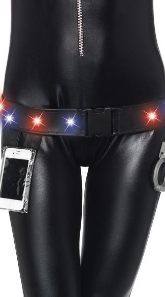Light Up Police Officer Utility Belt - Black
