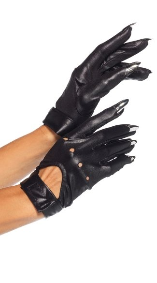 Motorcycle Gloves with Claws - Black