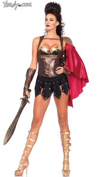 Brown Gladiator Corset Womens Gladiator Costume Corset Gold Trimmed Brown Corset  sc 1 st  Yandy & Brown Gladiator Corset Womens Gladiator Costume Corset Gold ...
