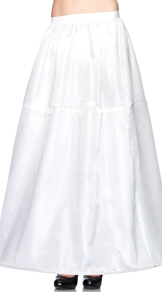 Long Hoop Skirt, White Skirt, White Long Skirt, Long White Skirt