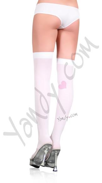 Plus Size Opaque Stocking - White