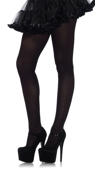 Nylon Spandex Tights - Black