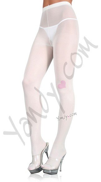 Plus Size Nylon Spandex Tights - White