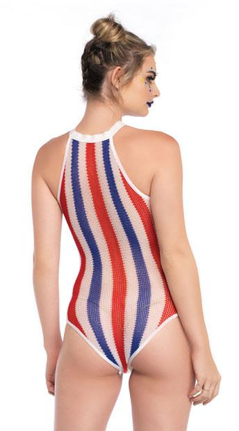 Patriotic Striped Bodysuit - Multicolor