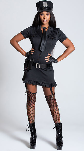 Sexy Dirty Cop Costume - Black
