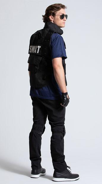 Mens SWAT Team Costume - Black