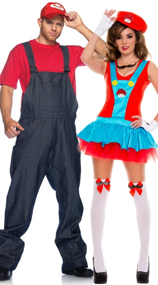 Playful Plumbers Couples Costume - as shown